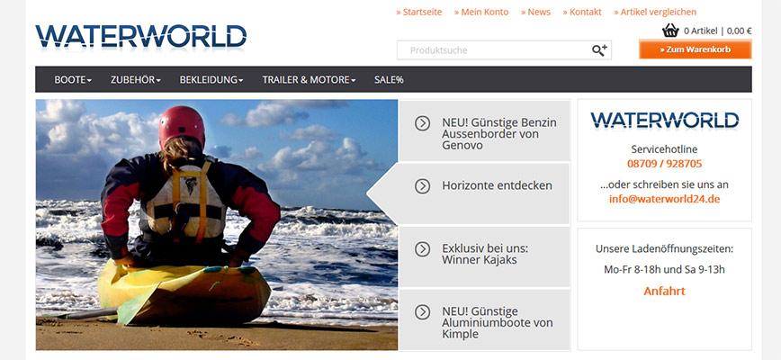 Waterworld24 – der Shoprelaunch geht online