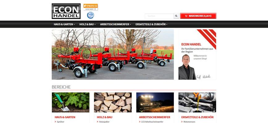 Onlinegang – Relaunch Econ-Handel