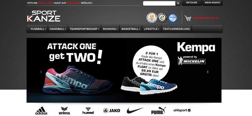 Neuer Onlinegang – Sport-Kanze
