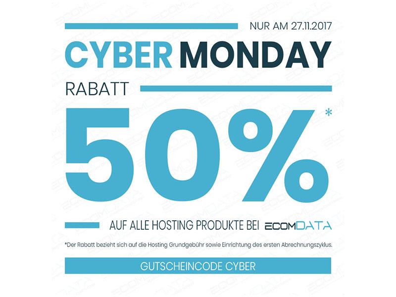 50% Rabatt auf alle Hosting Produkte von ecomDATA
